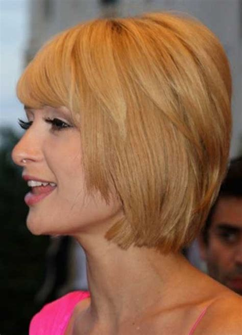 cute layered short blonde bob hairstyle with bangs 20 cute short haircut styles short hairstyles 2017