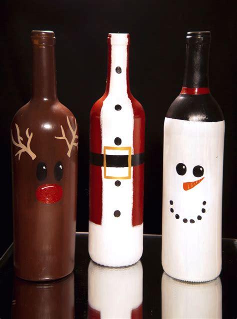 decorate wine bottle for christmas wine bottle decorations diy etsy stuff wine bottles