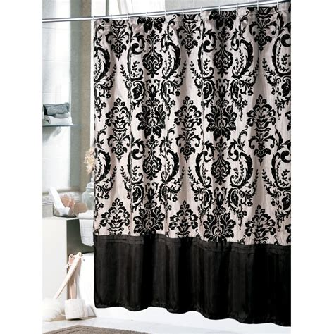 elegant shower curtains designs bathrom designs daphene shower curtain black and white