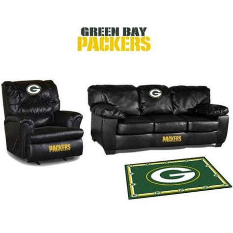 green bay upholstery green bay packers leather furniture set