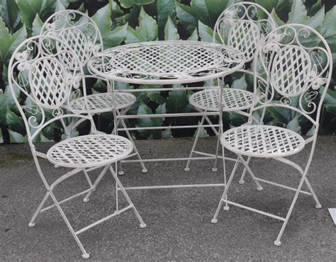 patio furniture white white wrought iron patio furniture chicpeastudio