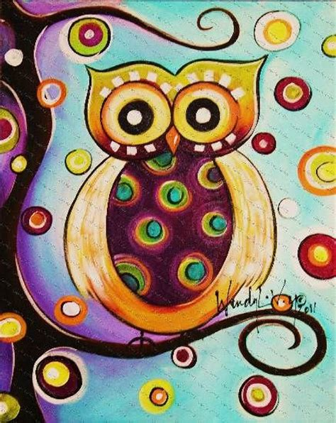 whimsical acrylic painting ideas whimsical owl design actually simple to paint