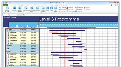 Schedule In Excel Schedule Toolkit View And Analyse Xer And Mpp Files In Excel