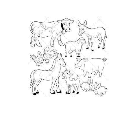 barn coloring pages with animals free coloring pages of barn animals