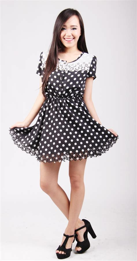 Althea Dress althea cut out polka dots dress on luulla