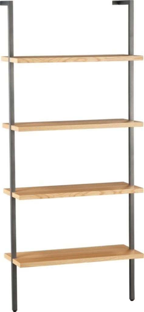 cb2 helix wall mounted bookcase 199 media office