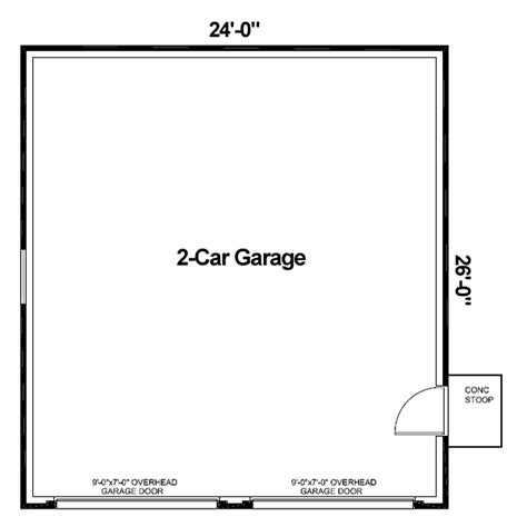 Sample Floor Plan With Dimensions Garage Plan 30000 At Familyhomeplans Com