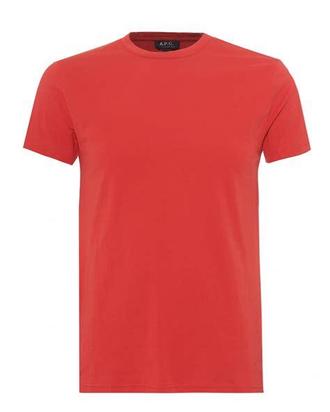 Plain Fit Shirt a p c mens plain sleeve t shirt regular fit