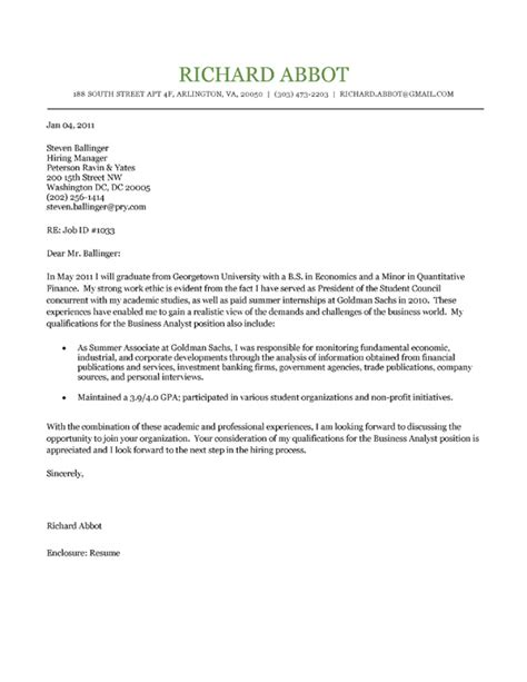 Sample Cover Letter: Sample Cover Letter College Student