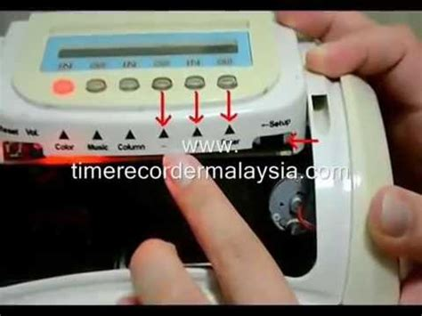 Mesin Absensi Krisbow how to set punch card machine comix mt 8800