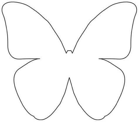free butterfly templates butterfly outline template cliparts co