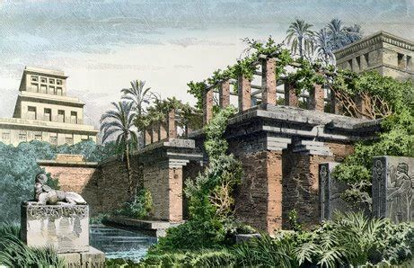 hanging gardens of babylon seven wonders of the ancient