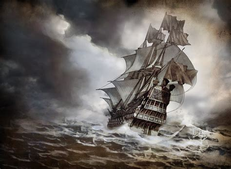 schip in storm ships in storms at sea shipstorm sailing ships