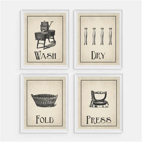 free printable laundry wall art laundry room wall art print wash dry fold press set