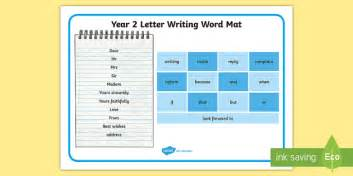 letter writing template y2 year 2 letter writing word mat exle texts y2 letter