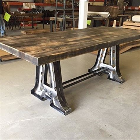A Frame Dining Table Barn Wood Dining Table With Steel Quot A Quot Frame Base Driftwood Furnitures