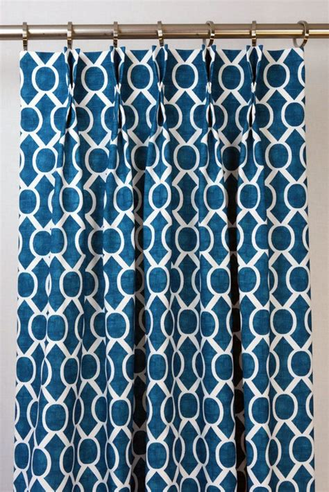 blue and white geometric curtains aquarius blue white modern geometric honeycomb sydney