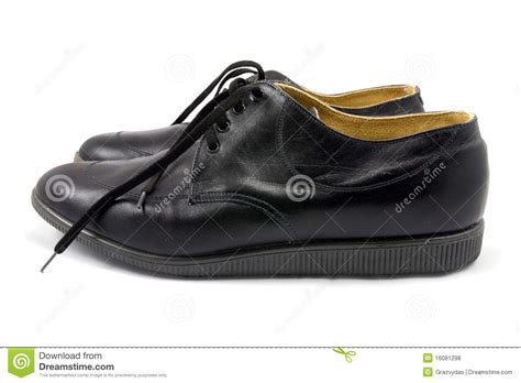 Shoe Unlimited Sr 5003 Black pair of black leather shoes stock photo image 16081298