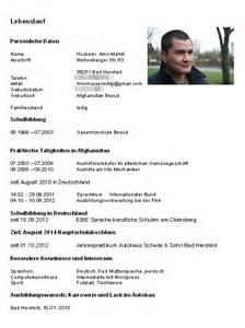 Lebenslauf Deutschland Unterschrift Lebenslauf Amirhusseini