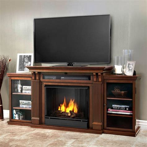 media cabinet with fireplace real flame calie entertainment 67 in media console