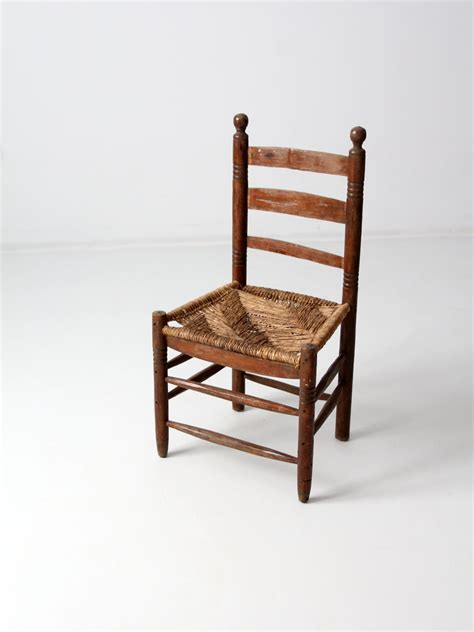 Ladder Back Seat Chairs - antique seat chair with ladder back