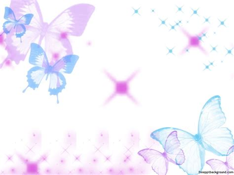 cute butterflies template free ppt backgrounds