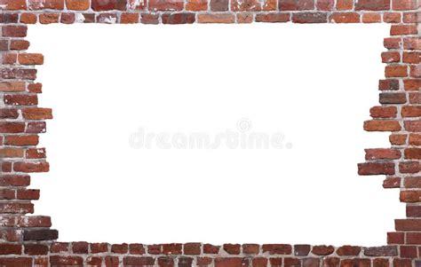 Wallborder B 007 brick wall as a frame 01 stock photo image of