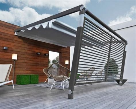 awning type creating a warm deck or patio space for winter