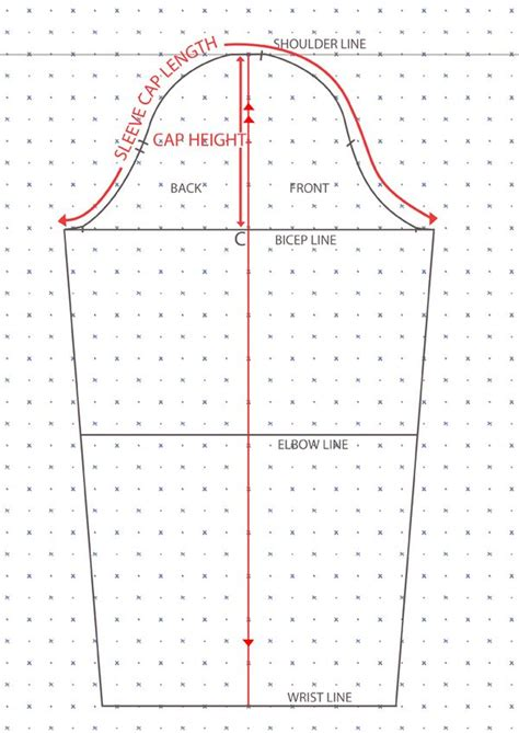 pattern drafting terminology full detailed tutorial showing how to draft basic sleeve