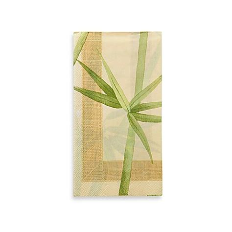 bathroom paper guest towels buy croscill 174 bamboo 16 count paper guest towels from bed