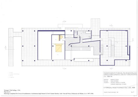 Create Floor Plan For House giuseppe terragni villa sul lago 1936 never