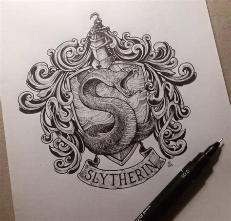 slytherin tattoo slytherin harry potter idea