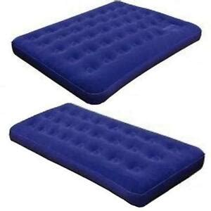 single flocked air bed cing luxury relaxing airbed mattress ebay