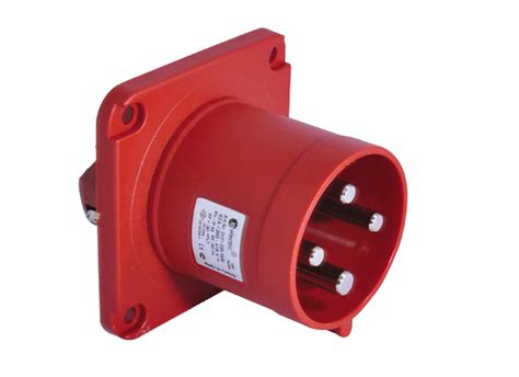 Surface Mounting 3x32a 4x63a panel mount appliance inlet ip44