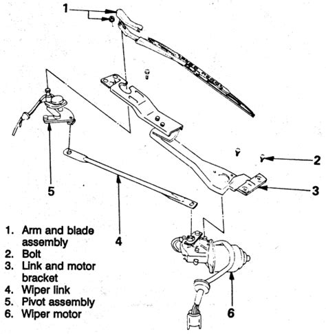 windshield wiper parts diagram repair guides windshield wiper motor windshield
