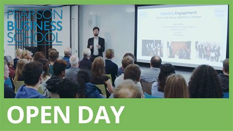 Mba Open Day by Visit Us Pearson Business School Pearson College