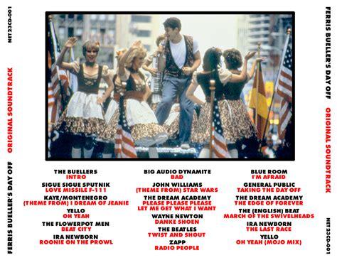 s day soundtrack list soundtrack sound ferris bueller s day