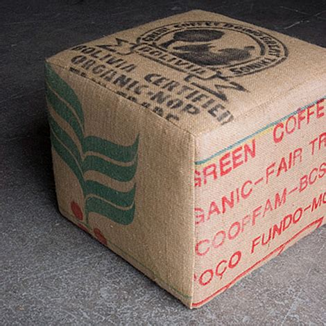 coffee sack ottoman coffee sack ottomans dear coffee i love you