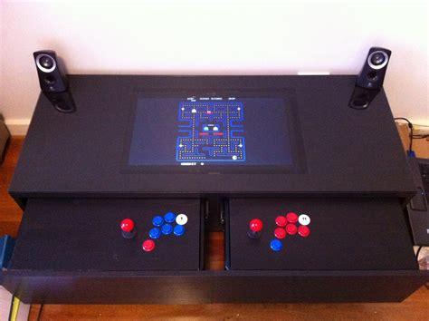 coffee table arcade diy arcade machine coffee table ikea hackers ikea hackers