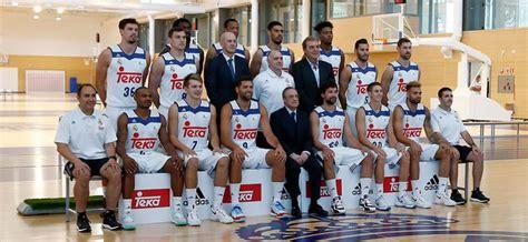 fotos real madrid baloncesto pretemporada el real madrid se hace la foto oficial con