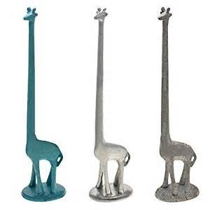 giraffe paper towel holder free standing cast iron giraffe decorative