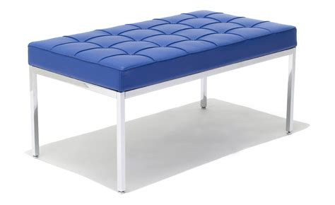 knoll bench florence knoll two seat bench hivemodern com