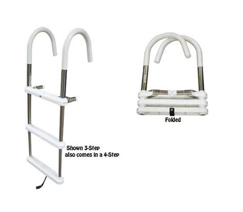 boat ladder portable 3 4 step telescoping gunwale hook ladder 316 stainless