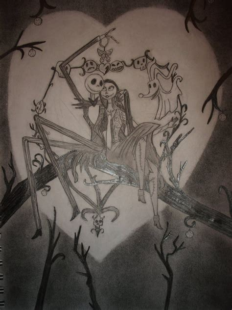 christ mas one drawing photo the nightmare before by amazingartist1 on deviantart