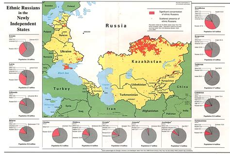 russia ethnic map russia and the former soviet republics maps perry
