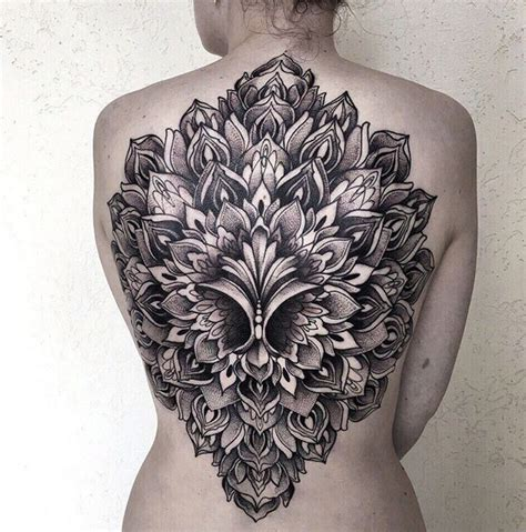 beautiful mandala back tattoo best tattoo design ideas