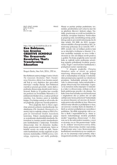 (PDF) Book Review: Ken Robinson, Lou Aronica: Creative