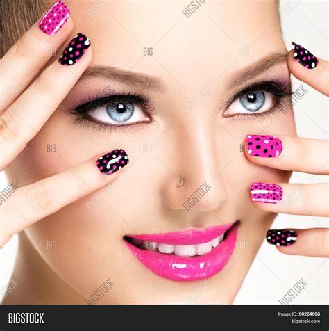 Nail Fashion by Portrait Makeup Image Photo Bigstock