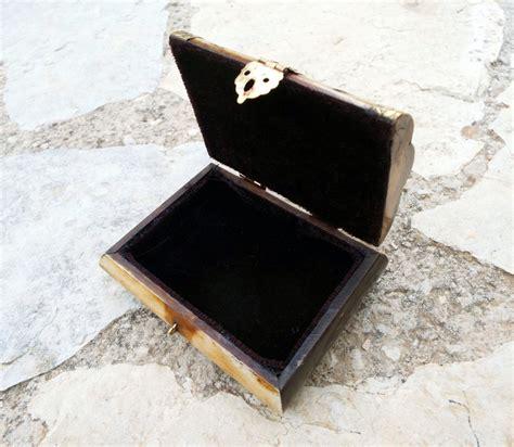 Handmade Trinket Box - bone box handmade trinket chest carved jewelry box antique