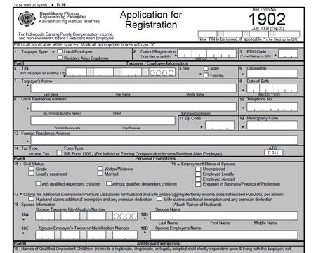 bir new form 2015 how to apply for a taxpayer s identification number tin